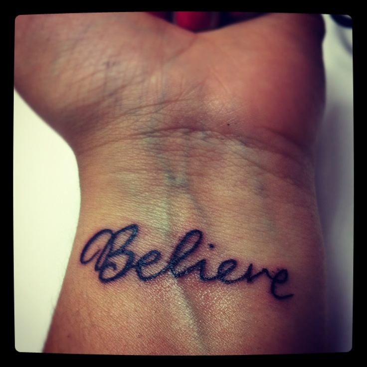 177 Best Believe Tattoo Images On Pinterest: Believe Tattoo