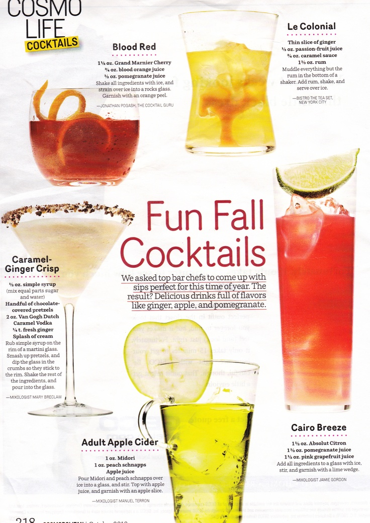 Fall cocktails specialty drink ideas i 39 m getting for Fall cocktail ideas