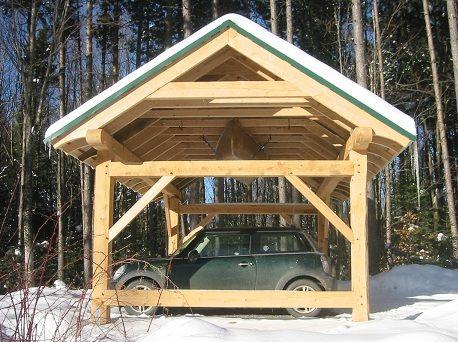Timber Frame Carport Barns And Sheds Pinterest