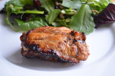 Spicy Honey Brushed Chicken Thighs | Food | Pinterest