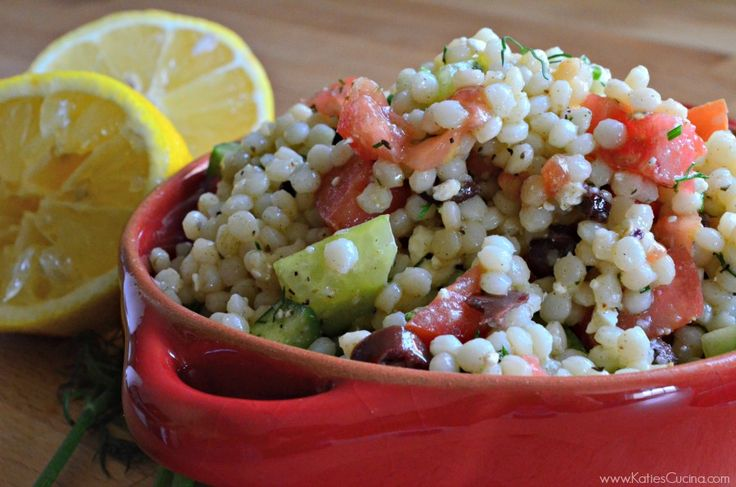 Whether you want to eat the Mediterranean Couscous Salad as a snack ...