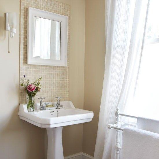 pedestal sink backsplash decorating pinterest