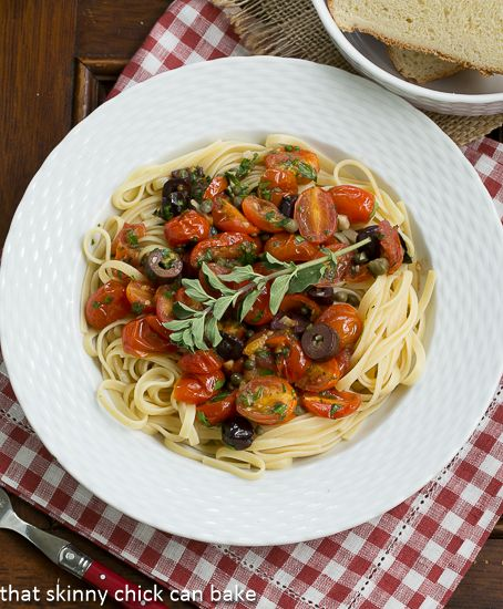 Linguine Puttanesca With Chickpeas Recipes — Dishmaps