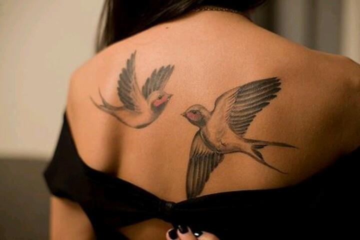 2 pretty birds   Tattoos   Pinterest