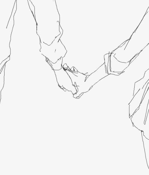 cogiendose las manos dibujo