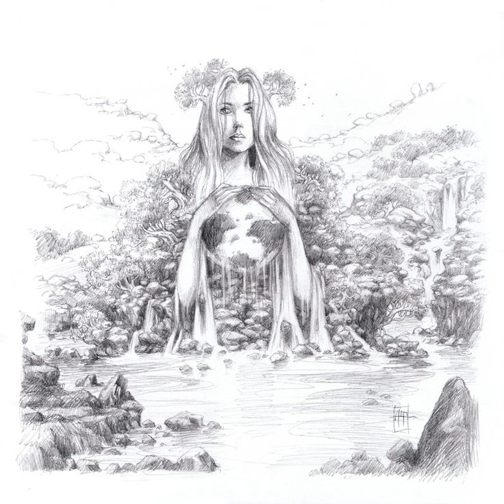 mother earth drawing