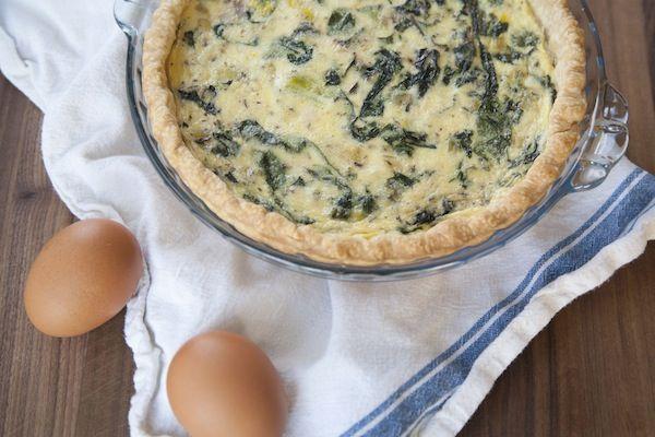 leek & swiss chard quiche   Culinary Creations   Pinterest