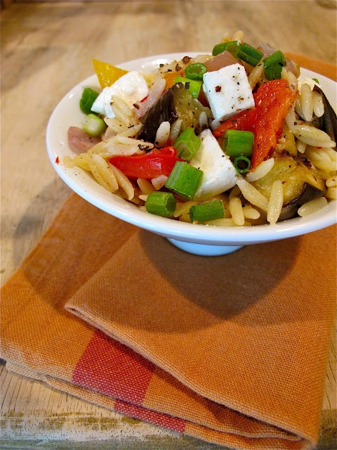 Roasted Vegetable & Orzo Pasta | Cibo e Bebita | Pinterest