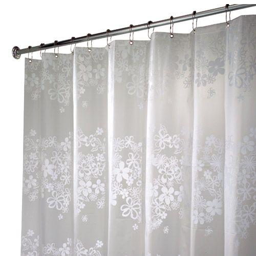 84 long fiore white eva ecopreme non toxic shower curtain