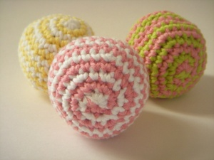 Spiral Hacky Sack - Approx 2 1/4 inches diameter. More panels will