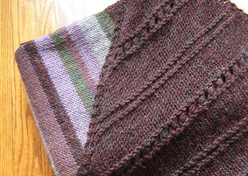 triangular shawl Favorite knitting patterns Pinterest