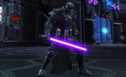 Black Lightsaber   For some reason, the purple blade looks scarier ...