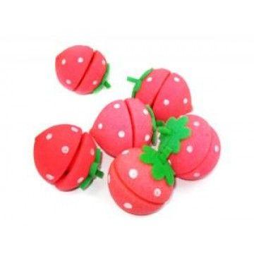 Strawberry Hair Sponge Curlers