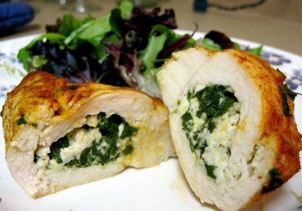 Fabulous Feta and Spinach Stuffed Chicken Breast Makes 4 servings, 150 ...