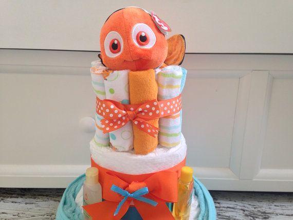 finding nemo diaper cake nemo baby shower on etsy