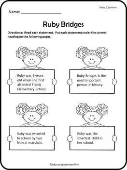 RUBY BRIDGES: A CELEBRATION OF BLACK HISTORY - TeachersPayTeachers.com