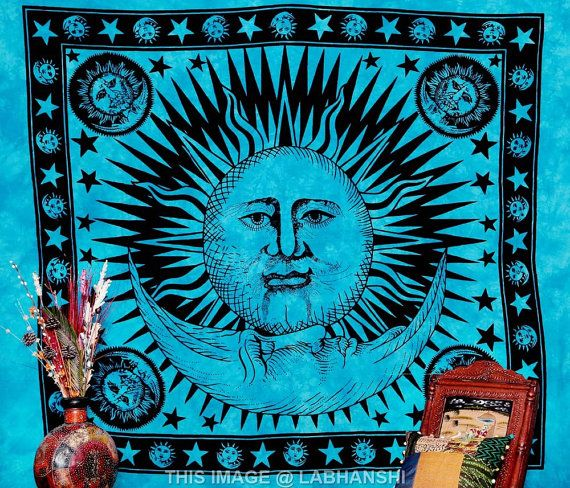 ... Celestial Tapestry Sun & Moon Tapestry by Labhanshi, $25.99