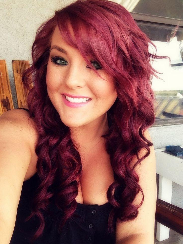 Цвет волос яркий махагон