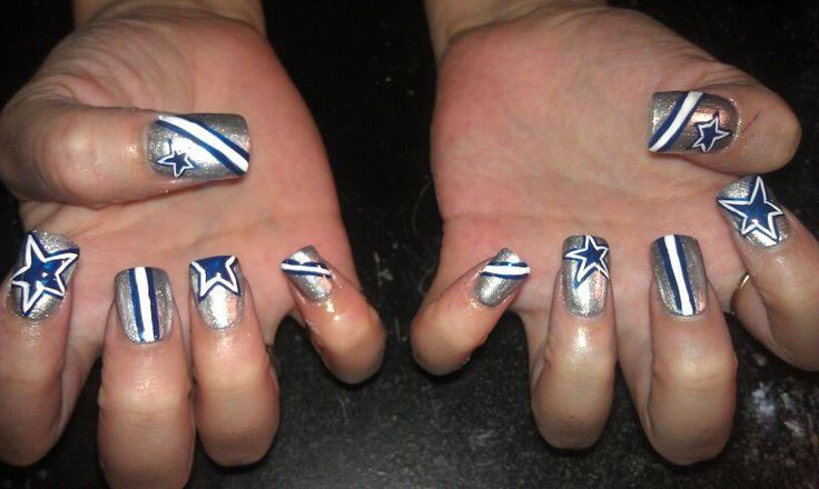 Dallas Cowboys nails | Nails I've done :) | Pinterest