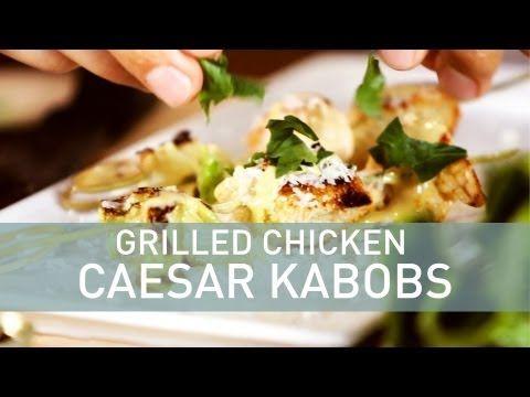Grilled Chicken Caesar Kabobs   Fooooood   Pinterest