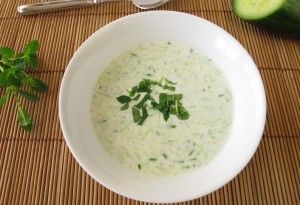 ... Minted Cucumber Honeydew Soup | SampleHouse Cookbook | Recipe | Soup