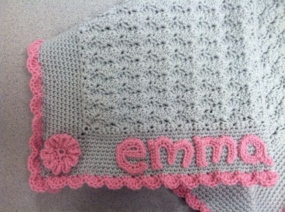 Personalized baby blanket with name and color of your choice on Etsy ...
