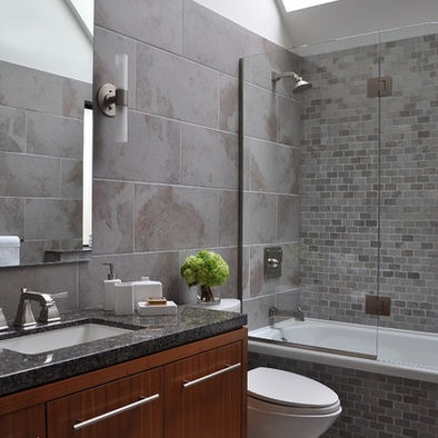 Grey Bathroom Mosaic Tiles For The Home Pinterest