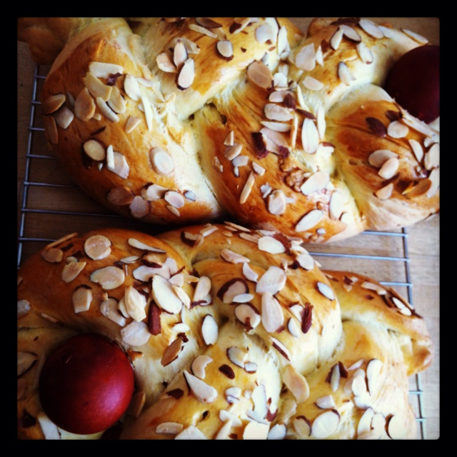 Tsoureki, Greek Easter bread. | deliciousness | Pinterest