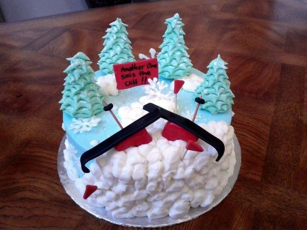 skiing cake ideas