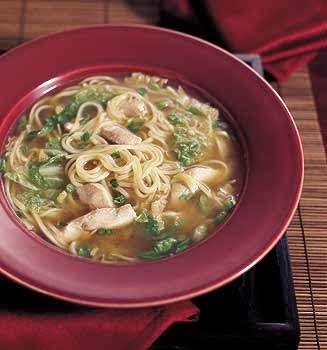 Chinese Chicken Noodle Soup with Sesame and Green Onions | Recipe