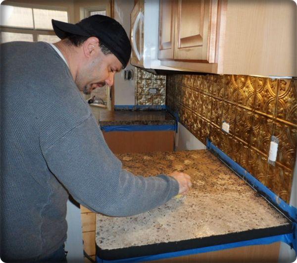 Granite-Look Countertop Paint From Giani : countertops giani looks like granite!