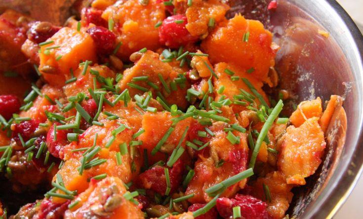 Cranberry Sweet Potato Salad with Maple Dijon Dressing ( GF, dairy ...