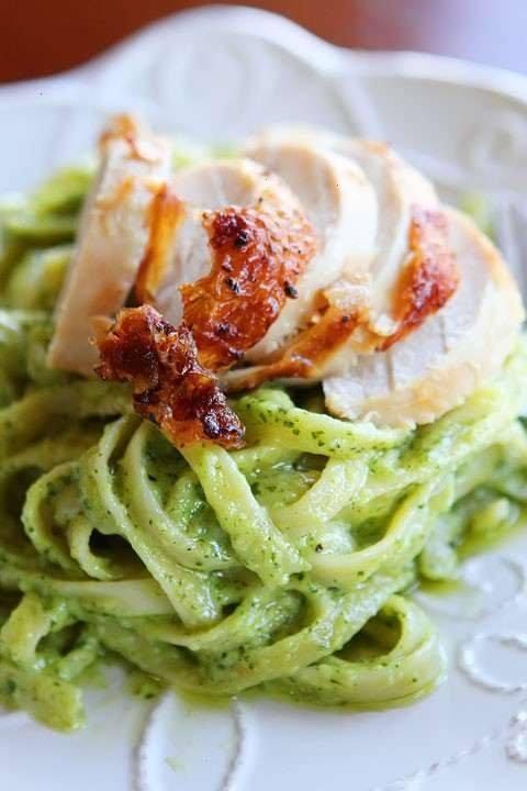 Pesto Pasta With Rotisserie Chicken | Tummy Love | Pinterest