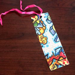 This duct tape bookmark is easy to make and would be a useful gift.