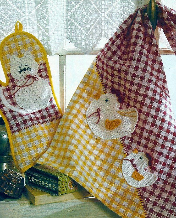 Para la cocina con apliques creaciones con tela pinterest - Apliques para cocina ...