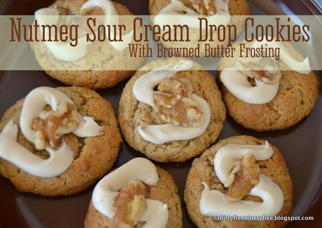 ... Cream Drop Cookies With Browned Butter Frosting | 3595 #fbcookieswap