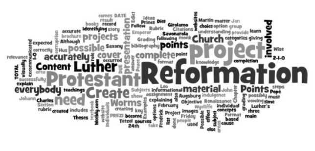 protestant reformation project
