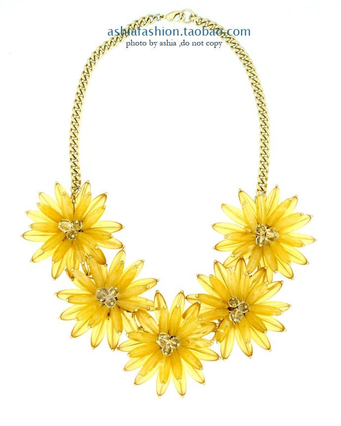 yellow flower necklace handmade zzkko fashion