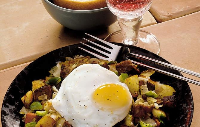 Steak Hash & Eggs - Leftover steak and potatoes from dinner were often ...
