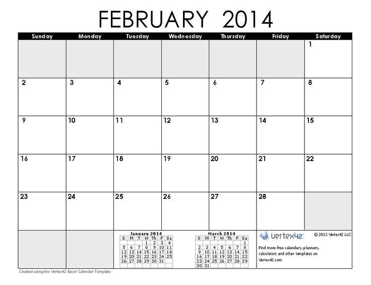 Printable Calendars By Vertex42 | myideasbedroom.com