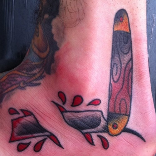 Top traditional straight razor images for pinterest tattoos for Straight edge razor tattoo