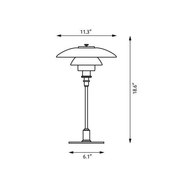 Desk Lamp Dimensions : Ph table lamp dimensions heart poulsen pinterest