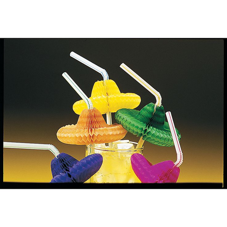 Flexible Sombrero Straws - OrientalTrading.com