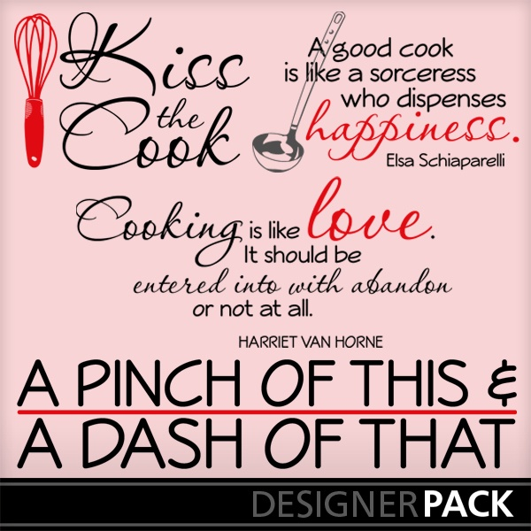 Kiss the Cook Word Art