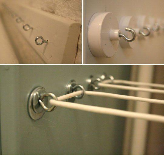 Indoor clothesline ideas