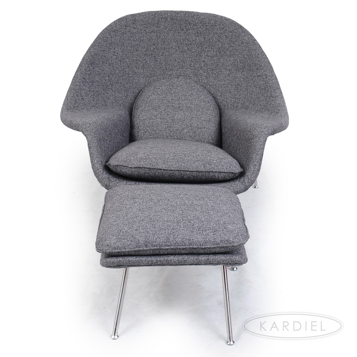 second bedroom womb chair ottoman silver lake home