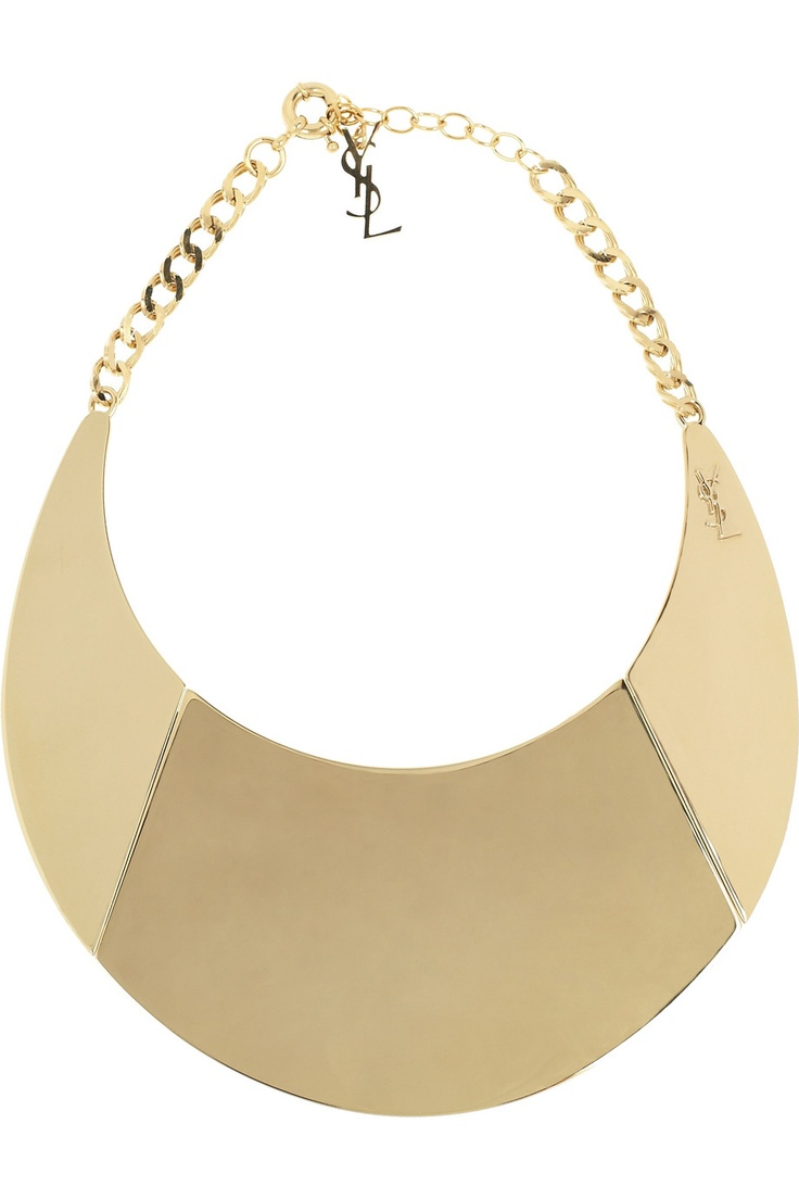 YVES SAINT LAURENT  Purefly gold-tone necklace