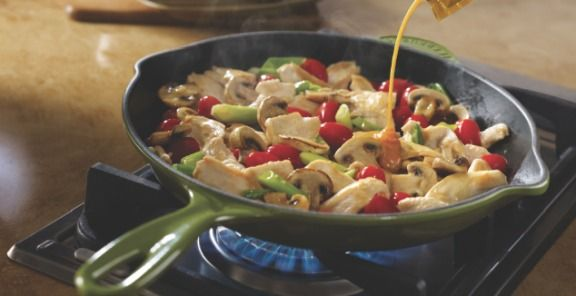Chicken With Grape Tomatoes And Mushrooms Recipe | Kitchen Daily