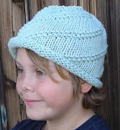 Roll Brim Spiral Hat Knitting Pattern in stitches Pinterest
