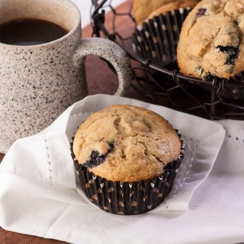 Browned Butter Banana Blueberry Muffins | family eats | Pinterest